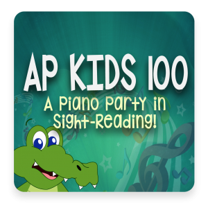 AP 100 Kids: A Piano Party in Sight-Reading DVD Course Set (Includes Online Access)