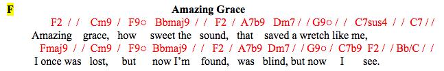 Amazing Grace in F